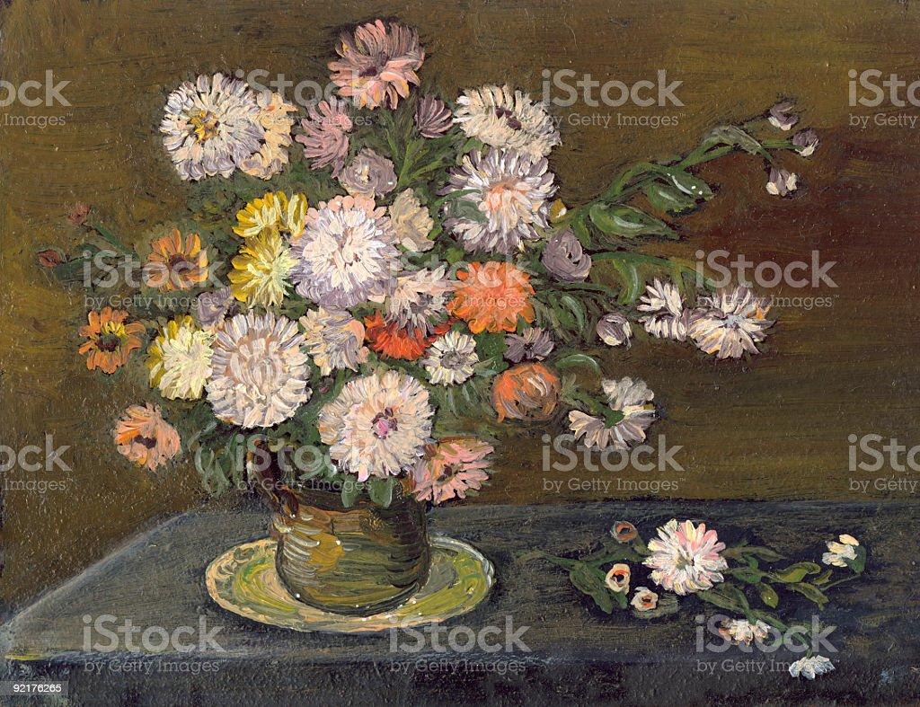 Flower arrangement vector art illustration