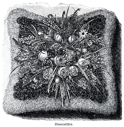 Flower cushion from above