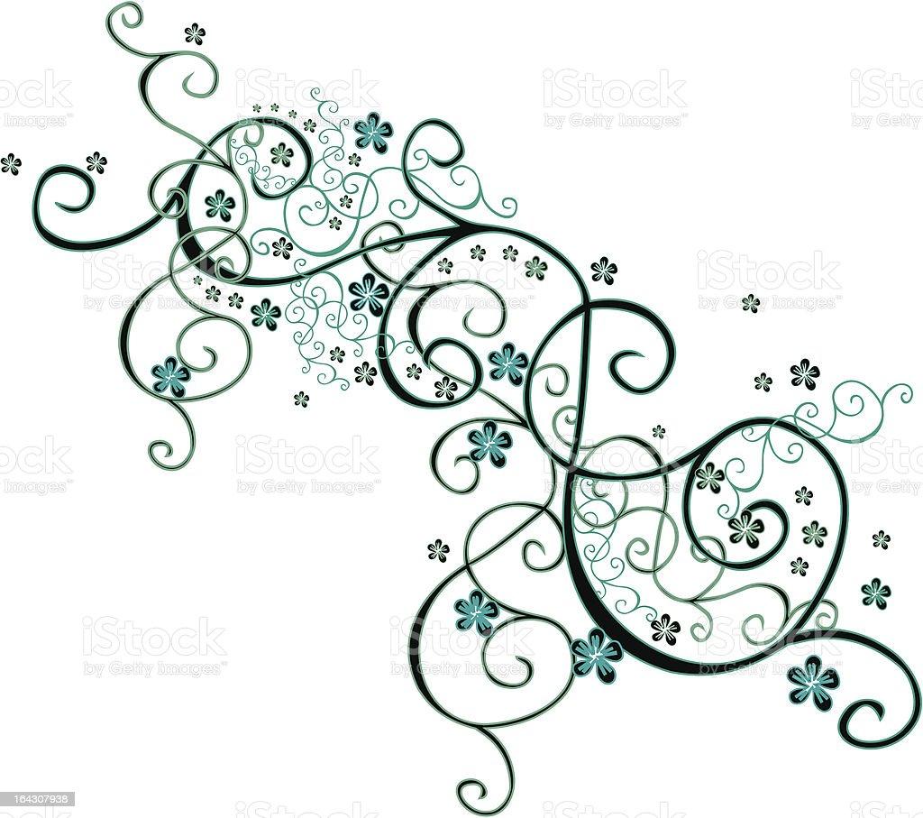 Flower dance I royalty-free stock vector art