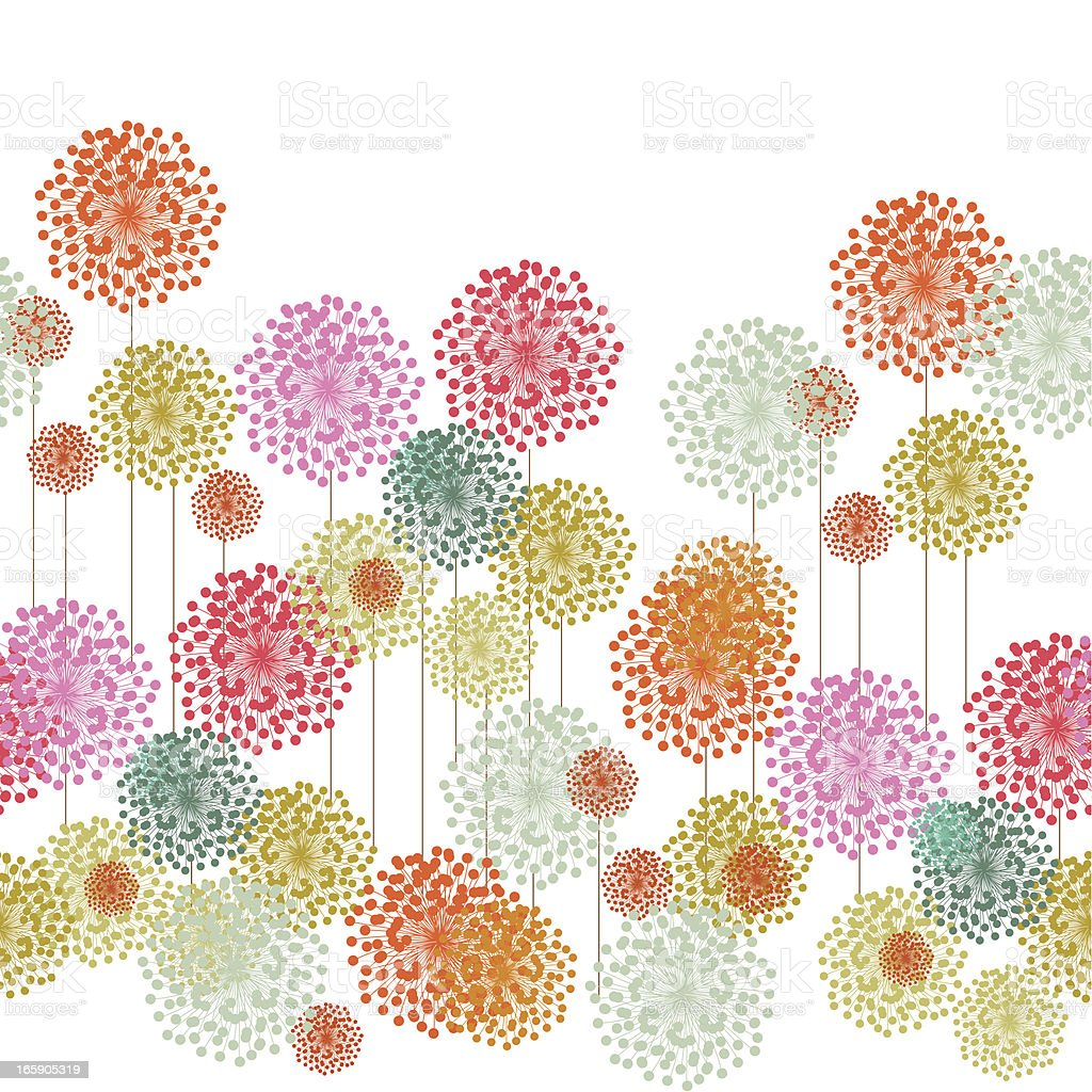 Flower garden pattern vector art illustration