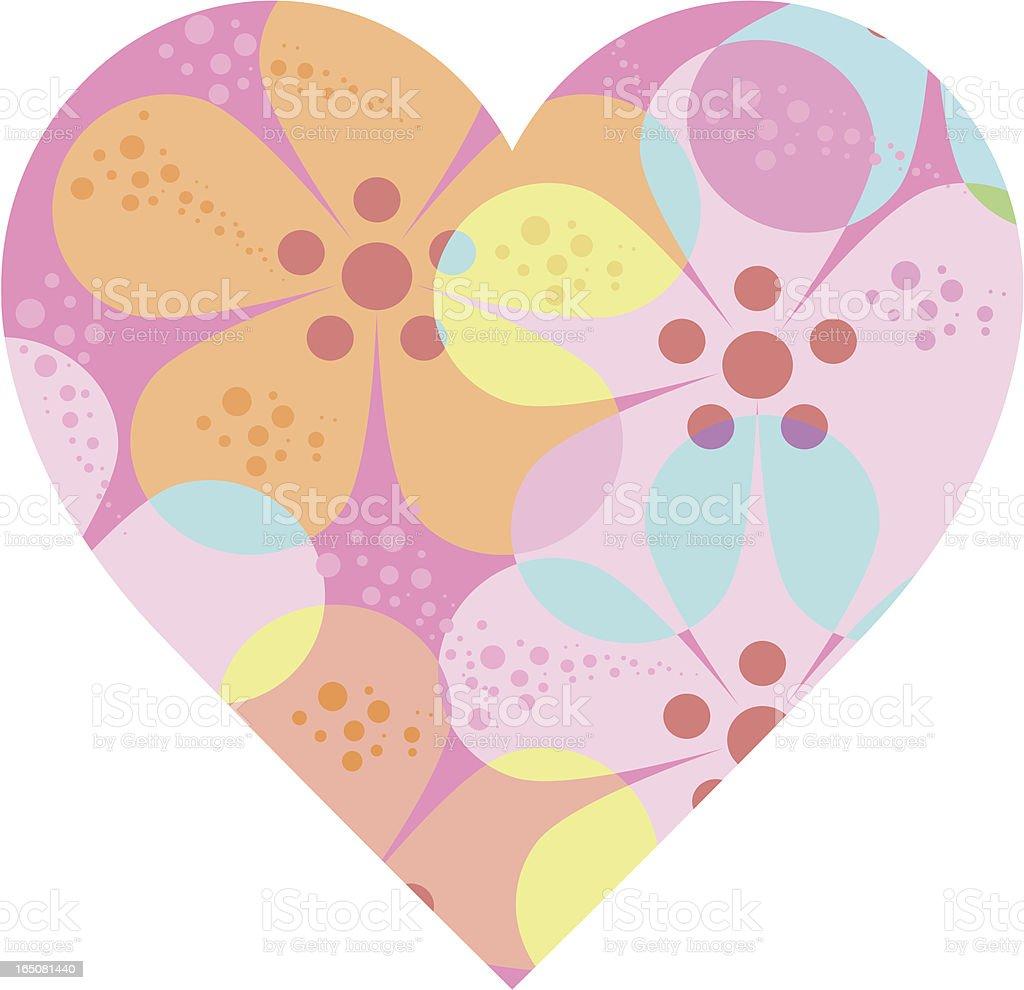 Flower power heart royalty-free stock vector art