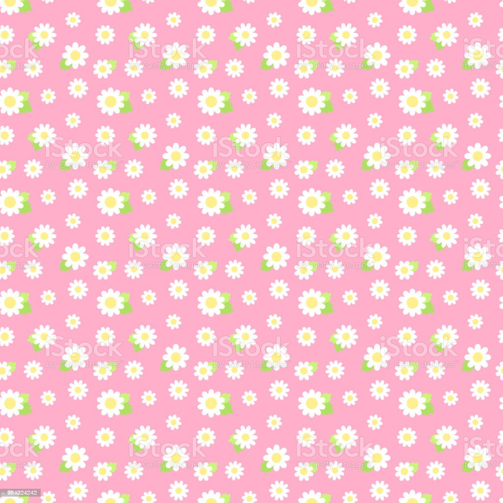 Flower seamless pattern vector art illustration