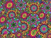 Bright vector seamless flower texture