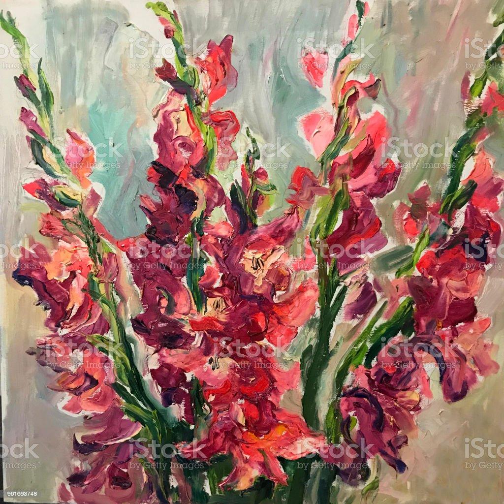 Blumen Kunst Malerei Stock Vektor Art Und Mehr Bilder Von Abstrakt Istock