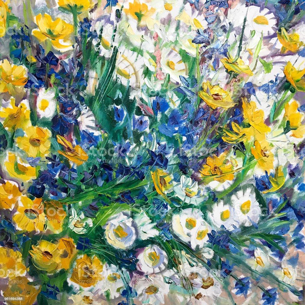 Blumen Kunst Malerei Stock Vektor Art Und Mehr Bilder Von Acrylmalerei Istock