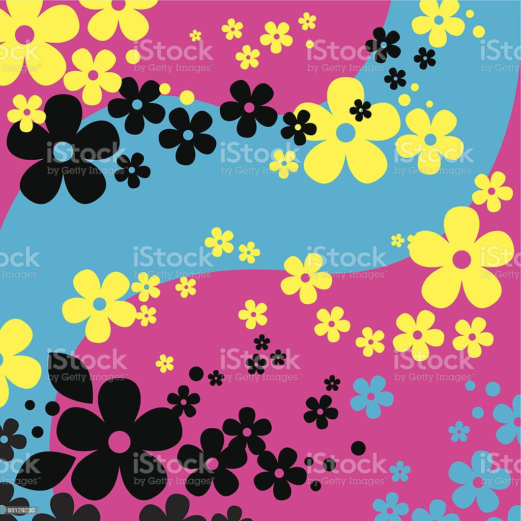 Flowers Background (vector + XXL jpg in ZIP folder) royalty-free stock vector art