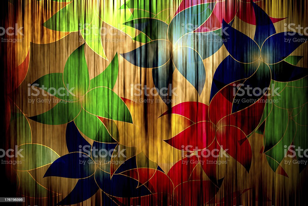 flowers on curtain royalty-free flowers on curtain stock vector art & more images of abstract