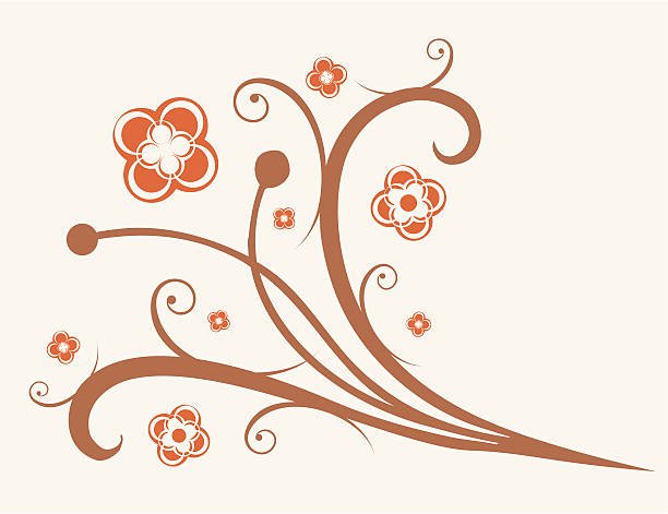 Flowers ornament vector art illustration