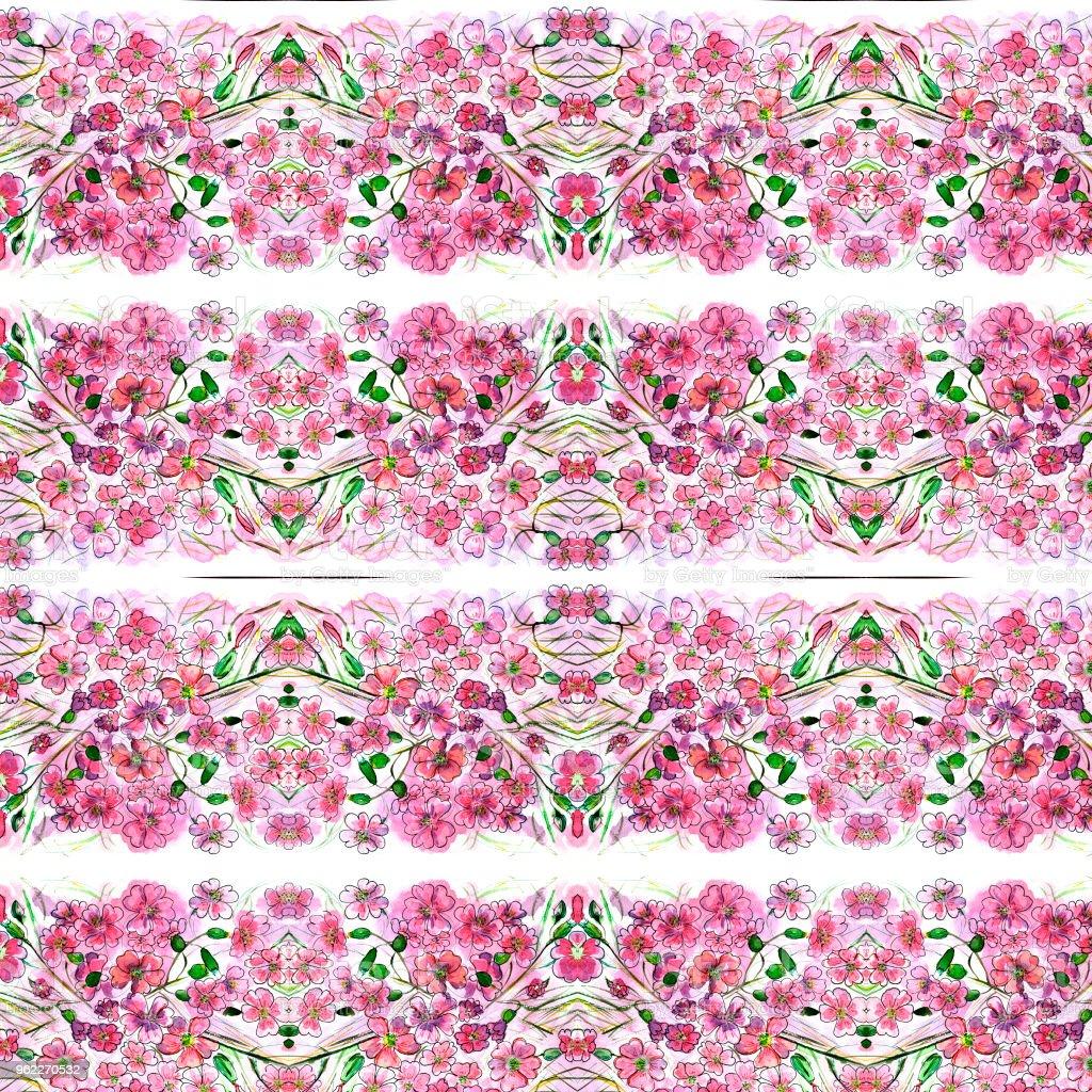 Dessin De Fleurs Rose Rouge Avec Feuilles Aquarelle Cliparts