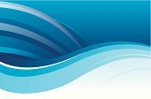 flowing blue wave background