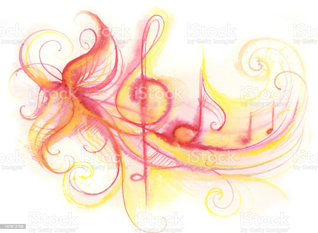 flowing tune royalty-free stock vector art