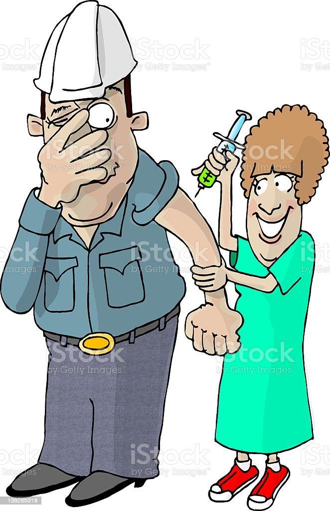 Flu Shot royalty-free flu shot stock vector art & more images of adult
