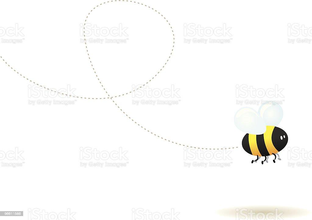 Fly little bee ! - Royaltyfri Bi - Insekt vektorgrafik