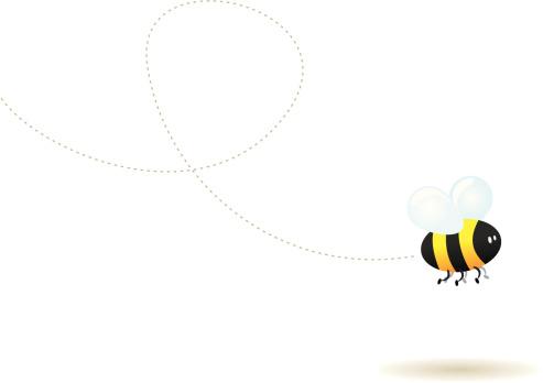Fly Little Bee-vektorgrafik och fler bilder på Bi - Insekt