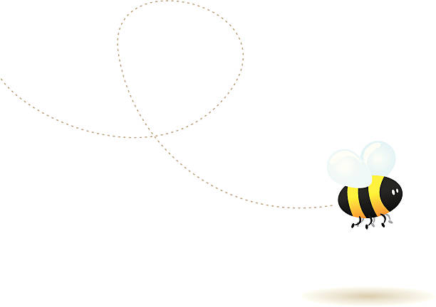 Fly little bee ! vector art illustration