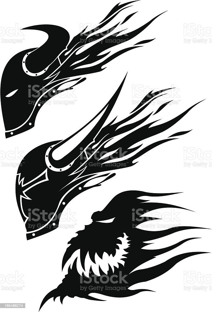 flying heads royalty-free stock vector art