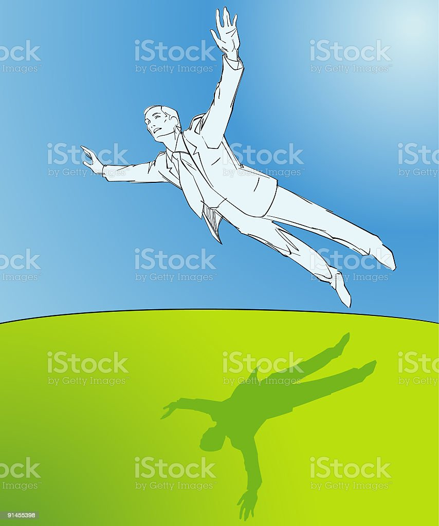 Flying royalty-free stock vector art