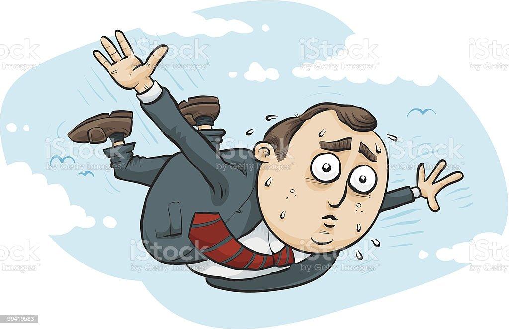 Flying In vector art illustration