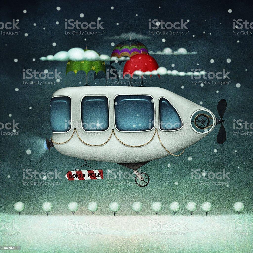 Flying machine royalty-free stock vector art