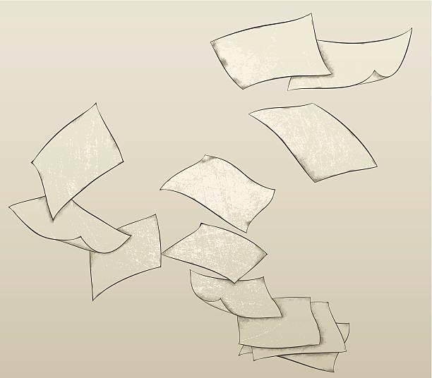Flying Papier Bettwäsche – Vektorgrafik