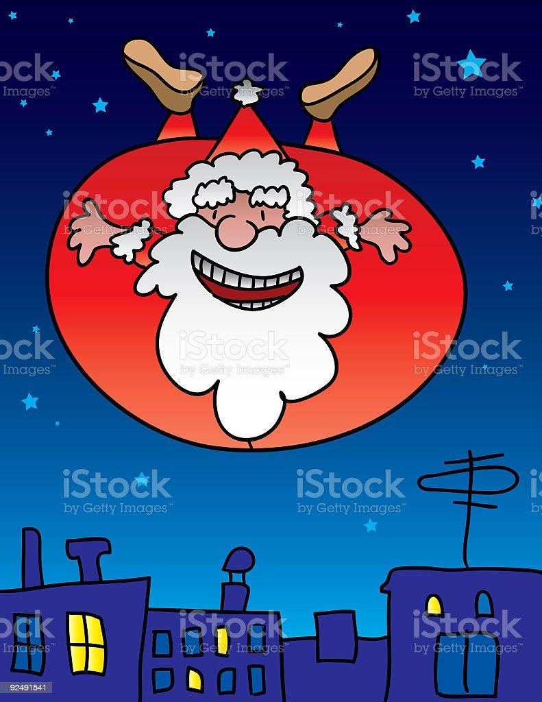Flying Santa Claus royalty-free flying santa claus stock vector art & more images of antenna - aerial
