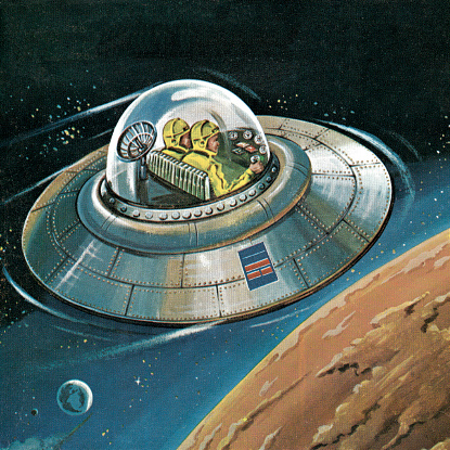 Flying Saucer in Outer Space