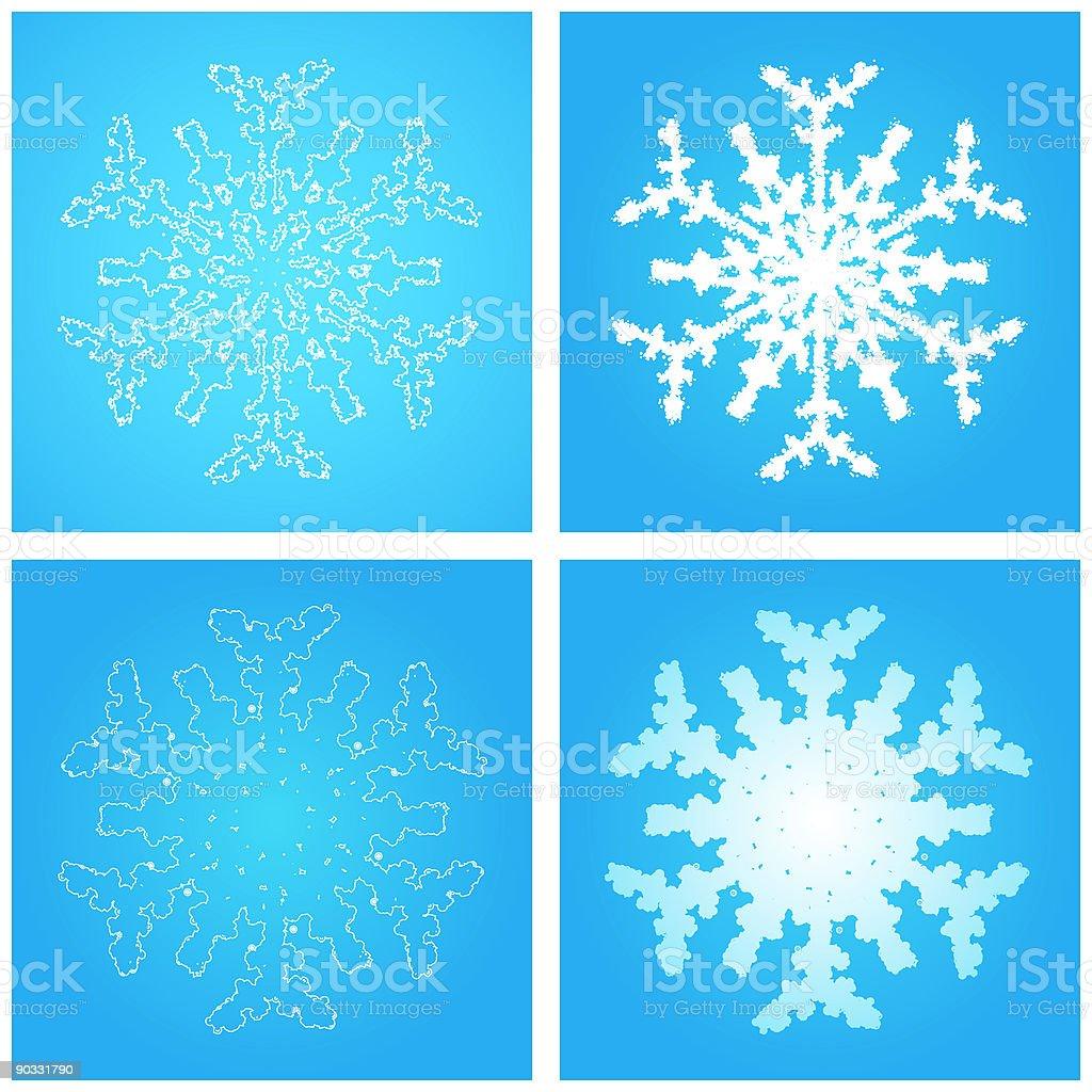 Foamy snowflakes 03 royalty-free stock vector art