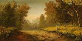 istock Foggy road 161840470