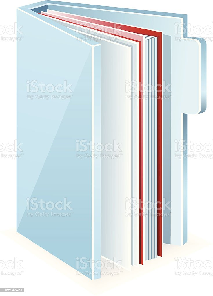 Folder and Files royalty-free stock vector art