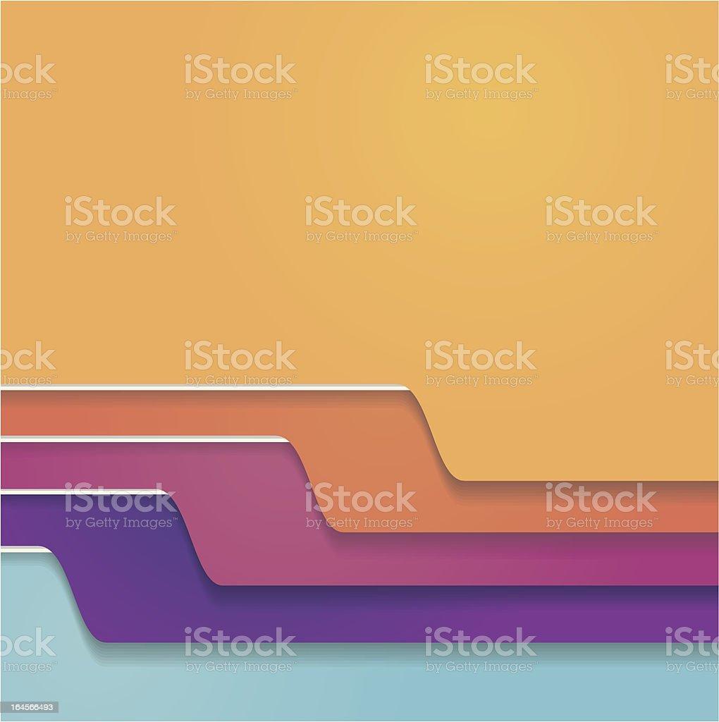 Folder tabs collection vector art illustration