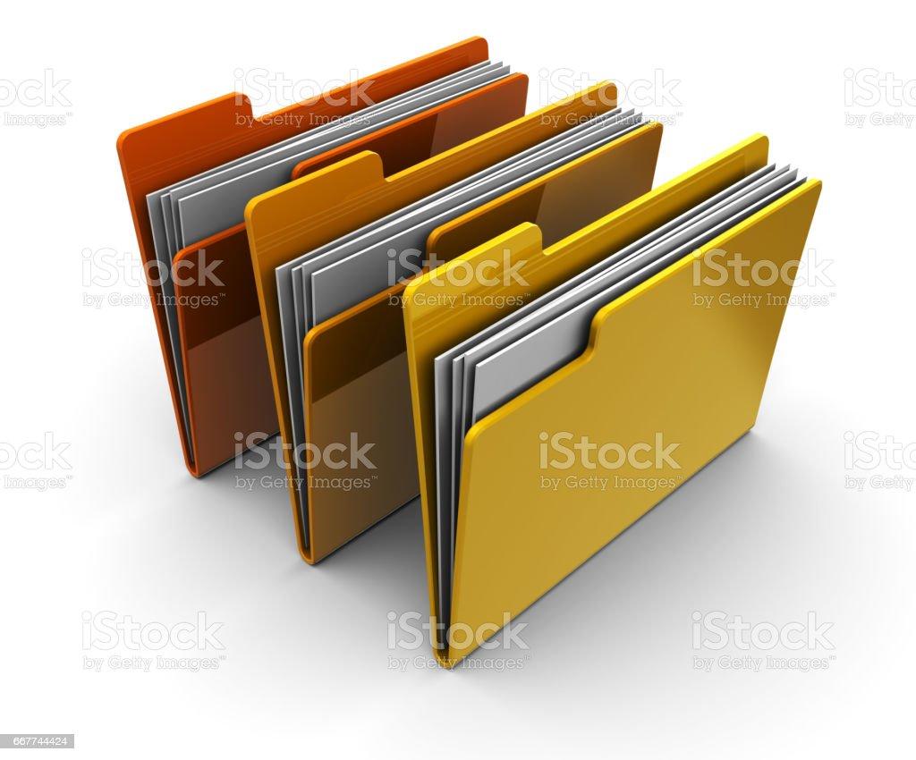 folders vector art illustration