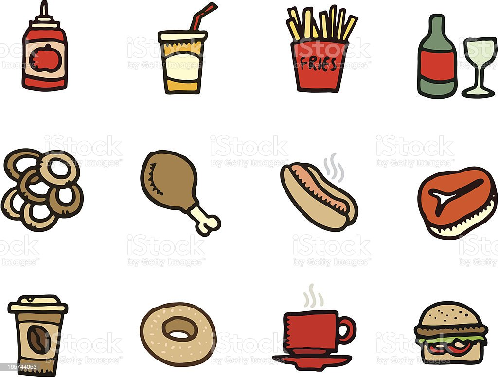 Food and drink doodle icons royalty-free food and drink doodle icons stock vector art & more images of alcohol