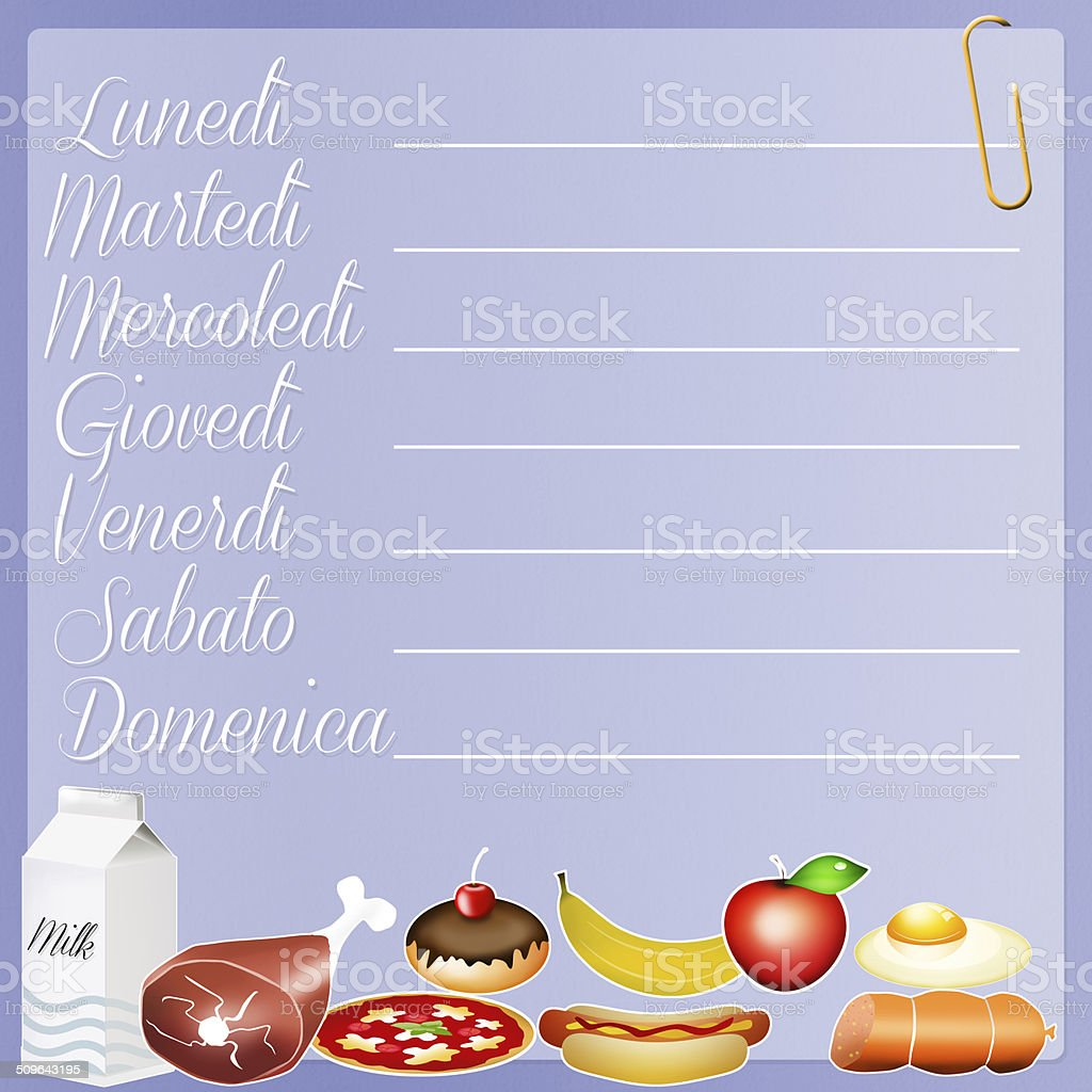 food diary stock vector art more images of balance 509643195 istock