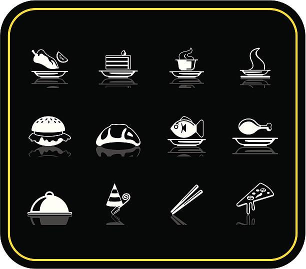 ikony żywności - burger and chicken stock illustrations