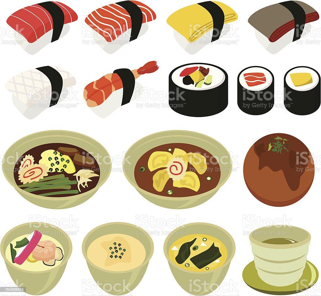 Essenicons Japanische Küche Mit Sushi Suppe Vektor Set Nr 1 Stock ...
