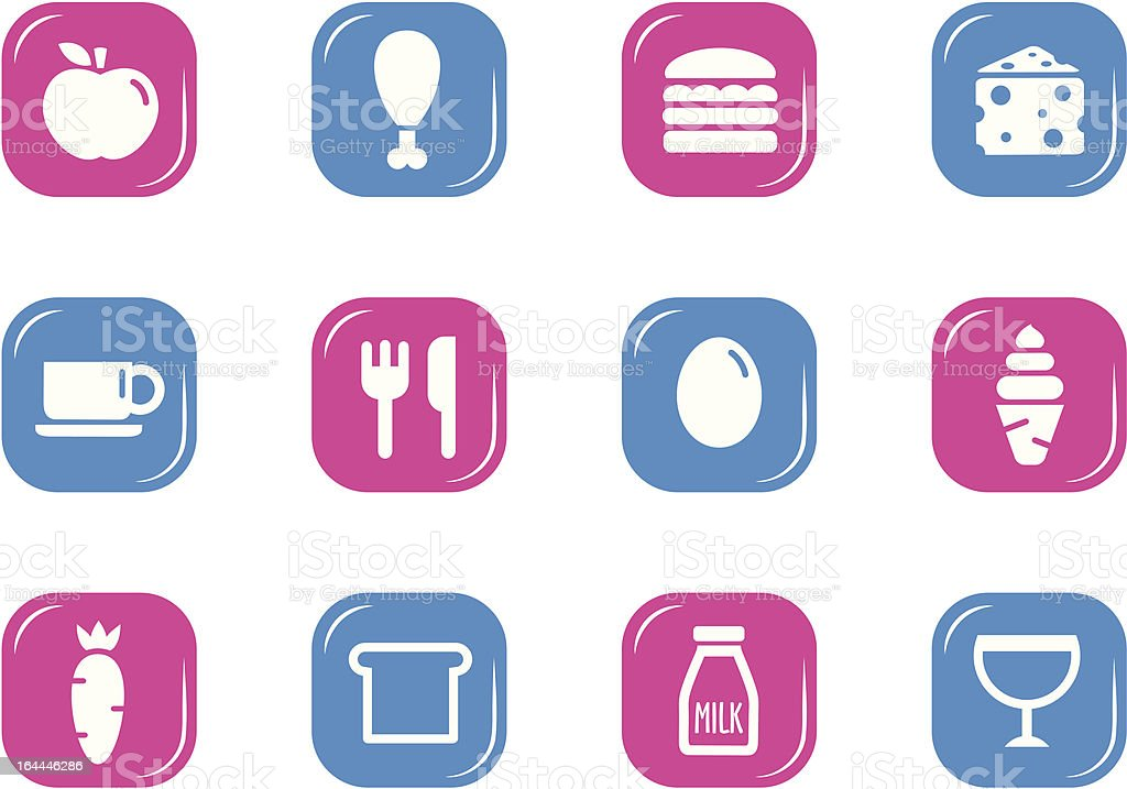 Food Icons - PB Series royalty-free stock vector art