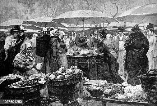 Food market scene