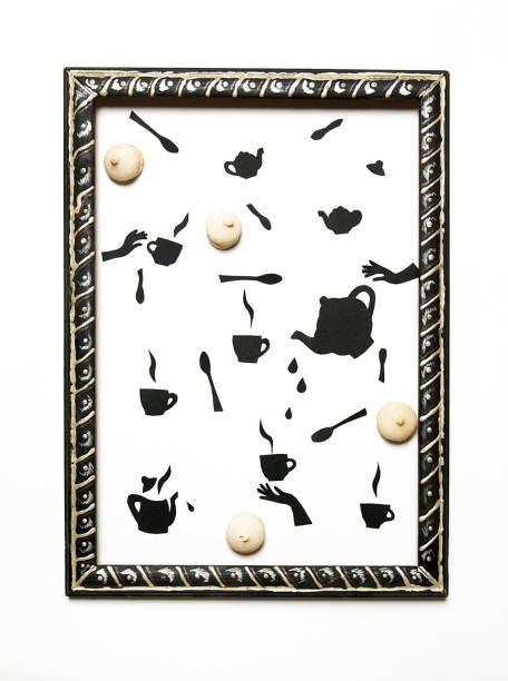 Foto de comida con dulces y - ilustración de arte vectorial