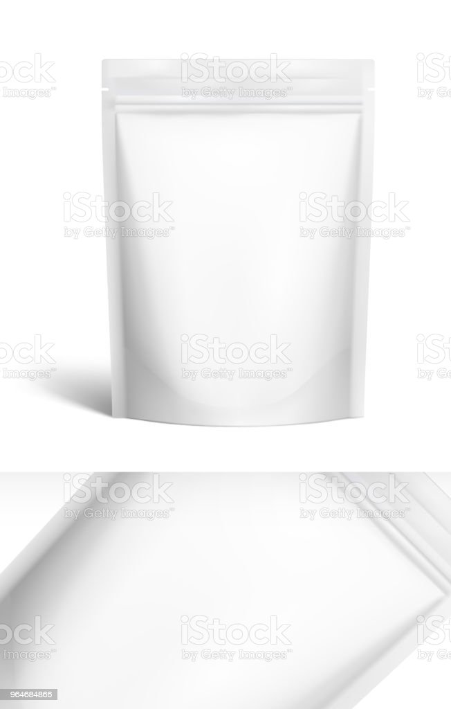 Food pouch bags isolated on white background. Vector illustration. Front view. royalty-free food pouch bags isolated on white background vector illustration front view stock vector art & more images of aluminum