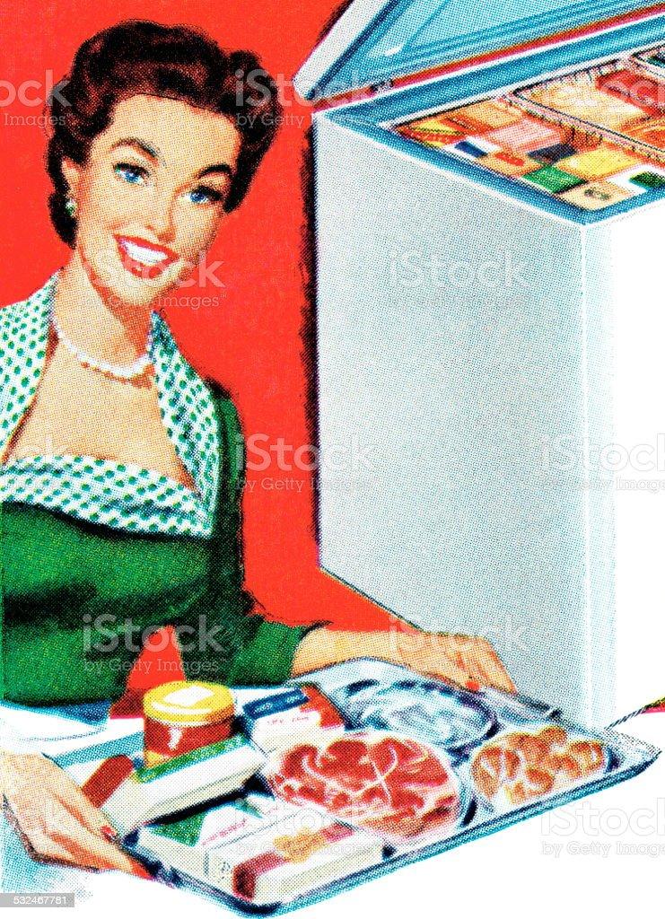 Food presentation vector art illustration