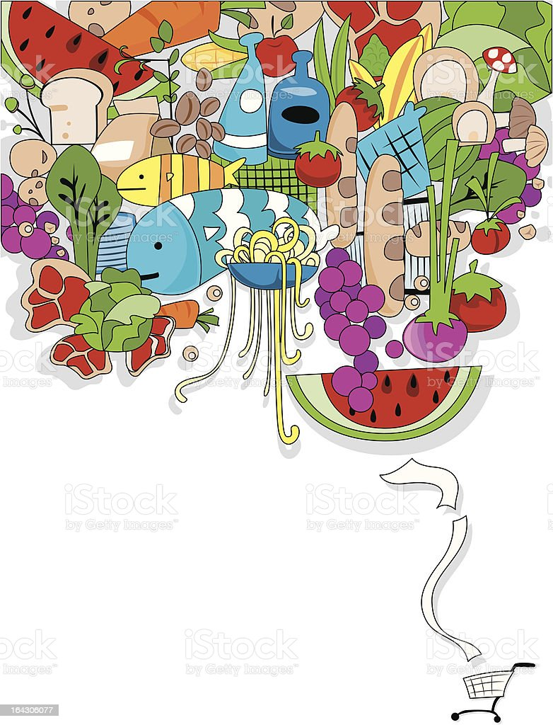 Food Shopping Design royalty-free stock vector art