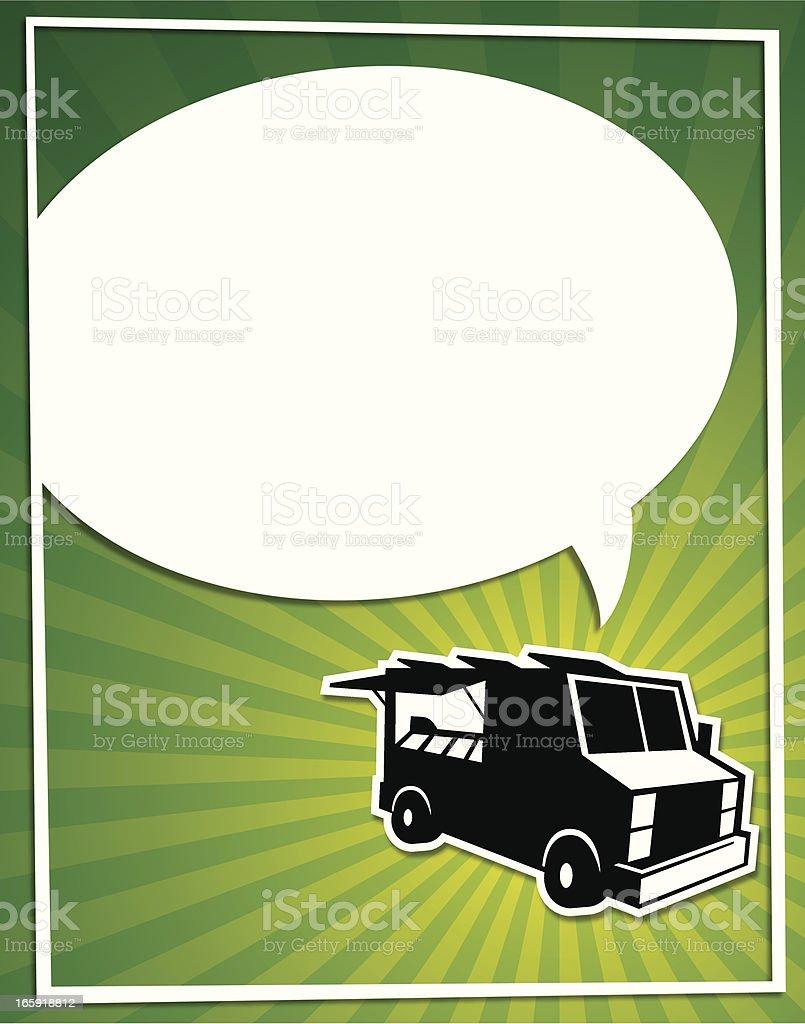 food truck bubble flier royalty-free stock vector art