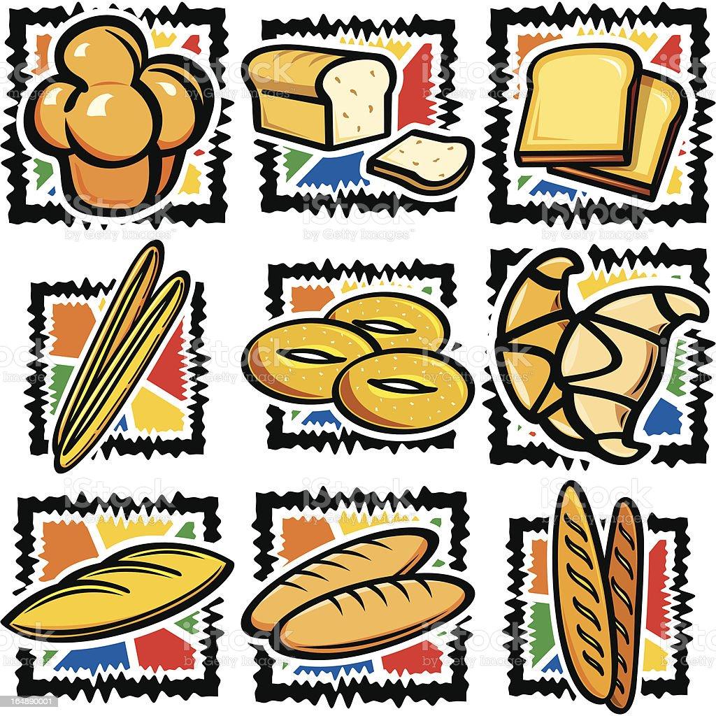 Food VIII: Baked Goods (Vector) vector art illustration