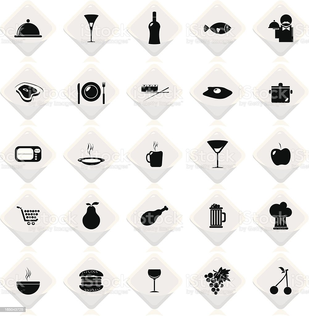 Foods & Drinks White royalty-free stock vector art