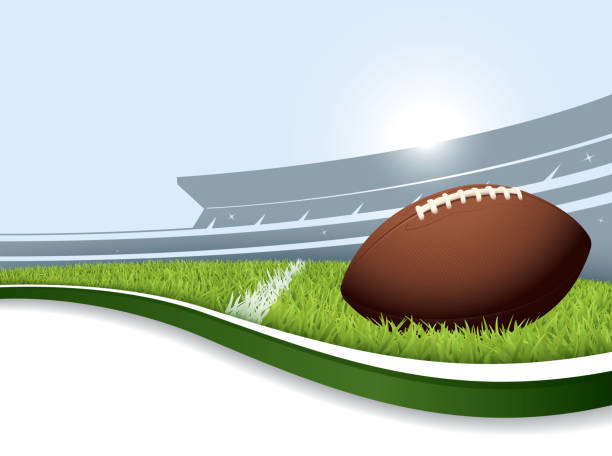 American Football Graphic Art Backgrounds: Best American Football Stadium Illustrations, Royalty-Free