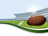 US football background