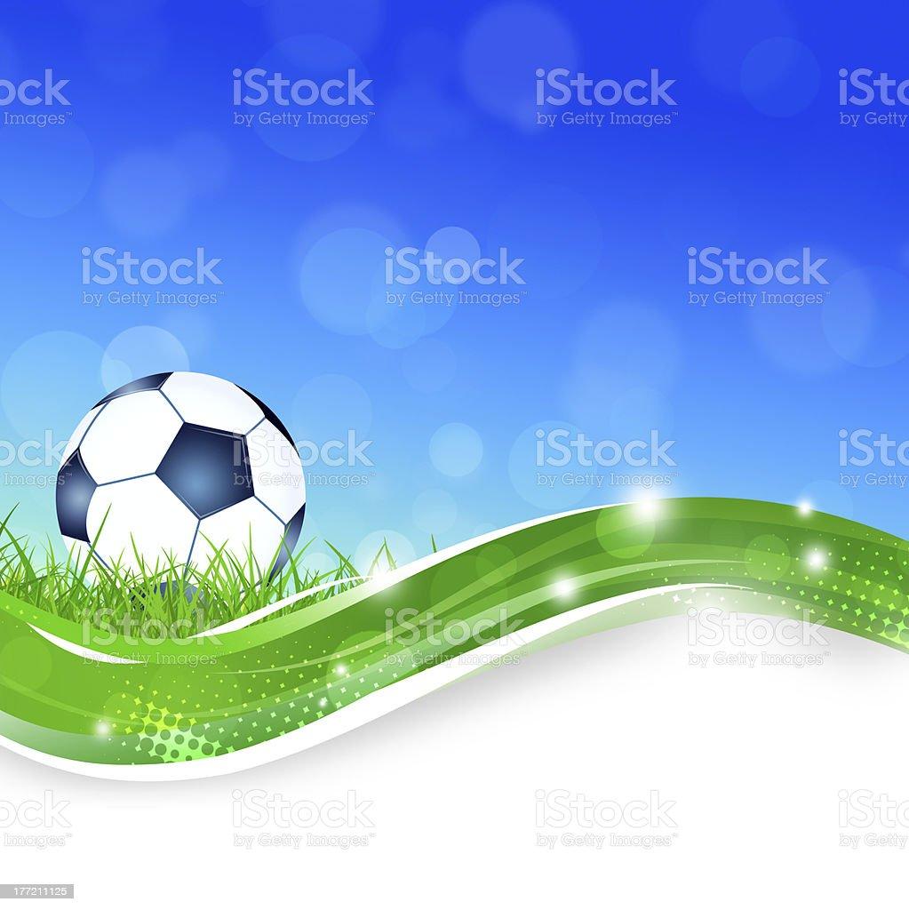 Football Ball on the Grass royalty-free stock vector art