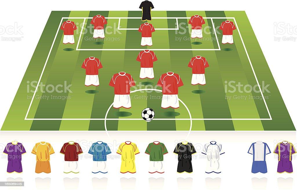 Football formation (5-3-2) royalty-free stock vector art