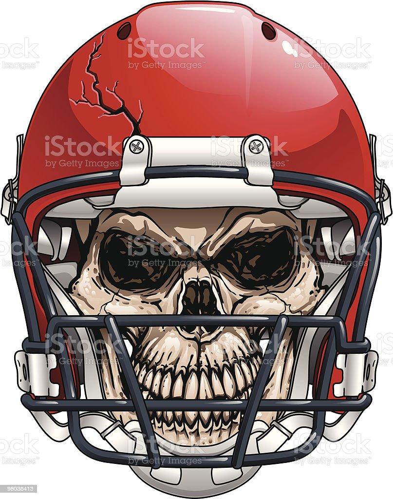 Casco da Football americano teschio casco da football americano teschio - immagini vettoriali stock e altre immagini di casco protettivo da sport royalty-free