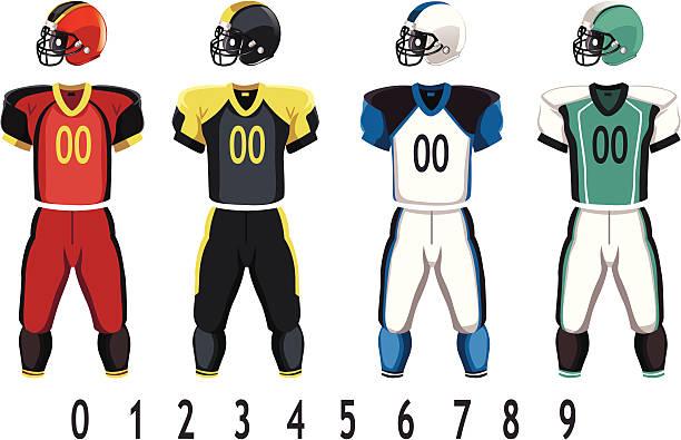 Football jersey vector art illustration